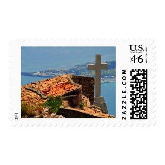 Taormina view 4 stamp