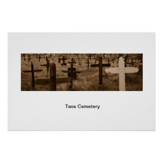 Taos Cemetary Poster