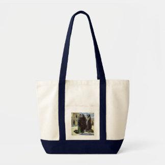 Taos Girls by Walter Ufer, Vintage Native American Bag