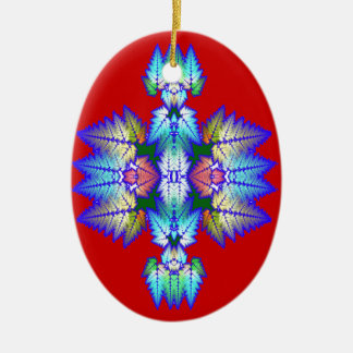 taos leaves ceramic ornament