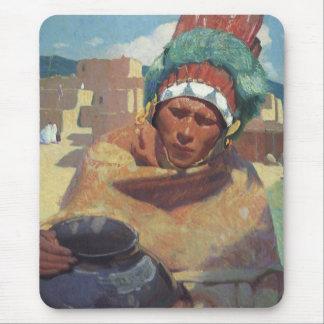 Taos Native American Indian Portrait, Blumenschein Mouse Pad