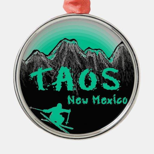 Taos New Mexico Artistic Skier Christmas Ornament