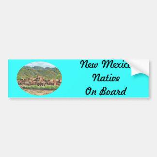 Taos, New Mexico Car Bumper Sticker