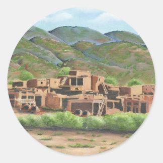 Taos, New Mexico Classic Round Sticker
