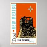 Taos, New México, los E.E.U.U. Poster