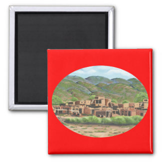 Taos, New Mexico 2 Inch Square Magnet