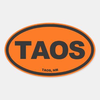 Taos New Mexico Oval Sticker