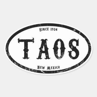 Taos New México Pegatina Ovalada