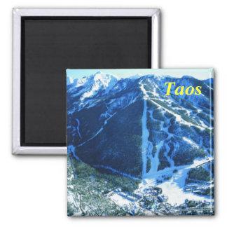 Taos new mexico ski magnet