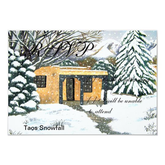 Taos, New Mexico Snowfall Card