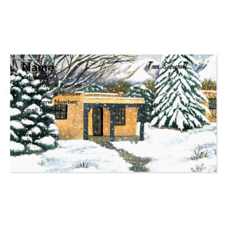 Taos, New Mexico Snowfall Double-Sided Standard Business Cards (Pack Of 100)