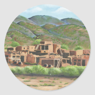Taos, New Mexico Classic Round Sticker