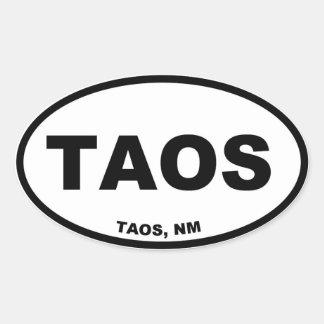 Taos Oval Sticker