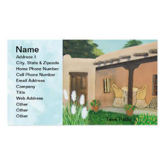 Taos Patio ~ Landscape Double-Sided Standard Business Cards (Pack Of 100)