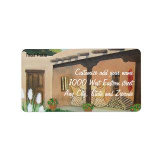 Taos Patio ~ Landscape Address Label