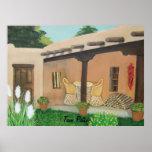 Taos Patio ~ Landscape Poster
