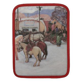 Taos Plaza in Winter Sleeve For iPads
