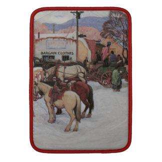 Taos Plaza in Winter MacBook Air Sleeves