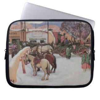 Taos Plaza in Winter Laptop Sleeve