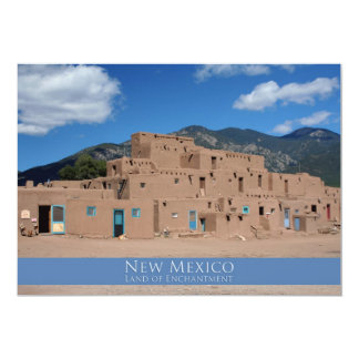 Taos Pueblo, New Mexico 5x7 Paper Invitation Card