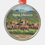 Taos Pueblo, New Mexico Christmas Ornament