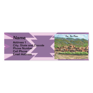 Taos Pueblo, New Mexico Double-Sided Mini Business Cards (Pack Of 20)