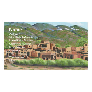 Taos Pueblo, New Mexico Double-Sided Standard Business Cards (Pack Of 100)