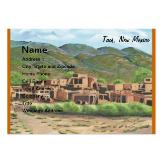 Taos Pueblo, New Mexico Large Business Cards (Pack Of 100)