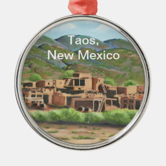 Taos Pueblo, New Mexico Metal Ornament