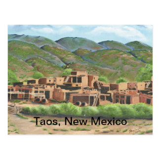 Taos Pueblo, New Mexico Postcard