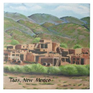 Taos Pueblo, New Mexico Tile