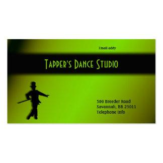 Tap Dance Business Card - Black n Green