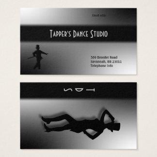 Tap Dance Business Card - Black n Silver