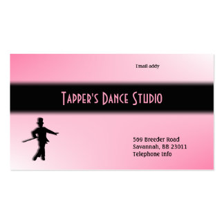 Tap Dance Business Card - Pink