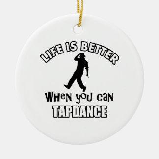 Tap dance Designs Ceramic Ornament