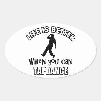 Tap dance Designs Oval Sticker