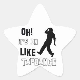 Tap dance designs star sticker
