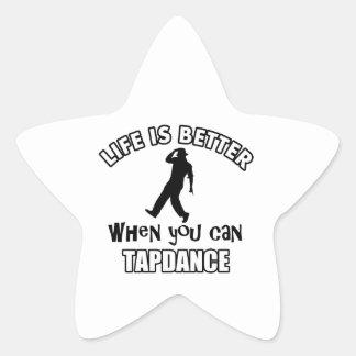 Tap dance Designs Star Stickers
