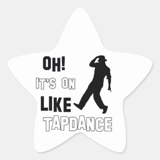 Tap dance designs sticker