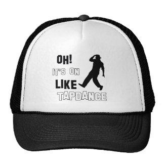 Tap dance designs trucker hat