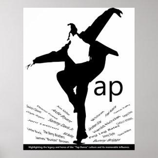 "Tap Dance Poster ""Legends"""
