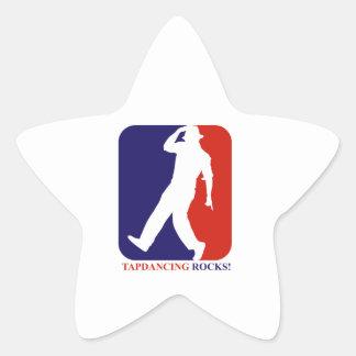 Tap dance rocks designs star sticker