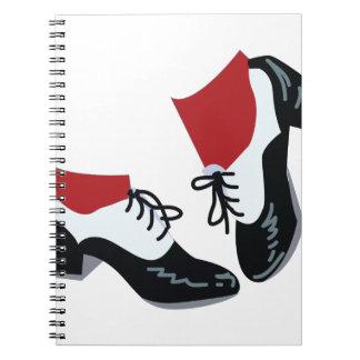 Tap Dance Spiral Notebook
