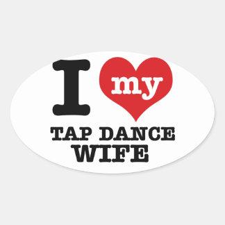 Tap Dance wife Oval Sticker