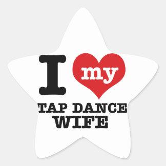 Tap Dance wife Star Sticker