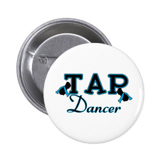 Tap Dancer Black and Blue Pinback Button