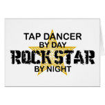Tap Dancer Rock Star by Night Greeting Card