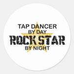 Tap Dancer Rock Star by Night Classic Round Sticker