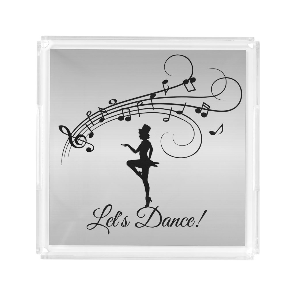Tap Dancer w Top Hat Acrylic Tray