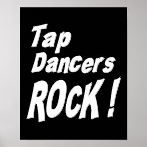 Tap Dancers Rock! Poster Print